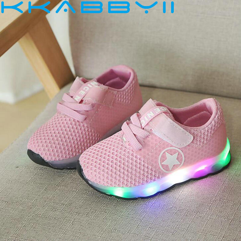 Fashion Toddler Baby Boys girls shoes with lights Children Mesh Sneakers Luminous Running Led Light childrens shoes girlsFashion Toddler Baby Boys girls shoes with lights Children Mesh Sneakers Luminous Running Led Light childrens shoes girls