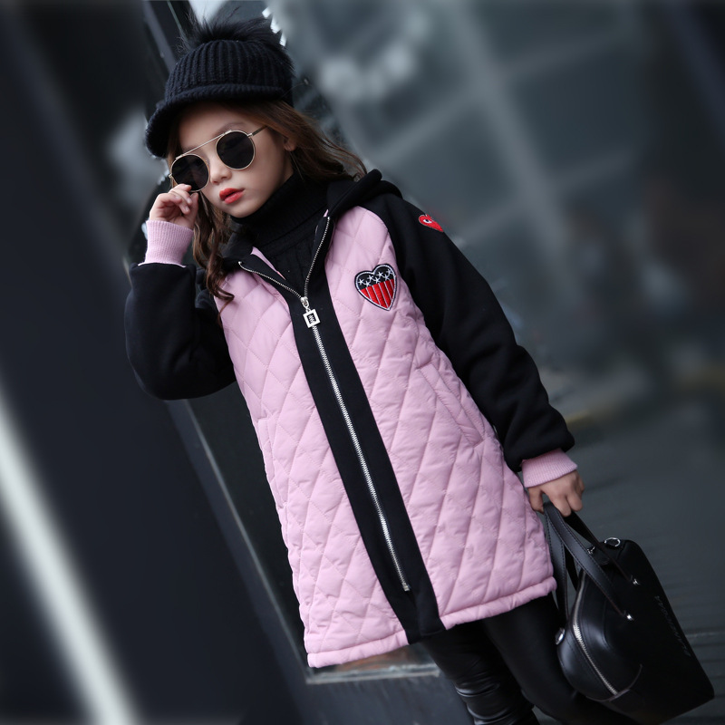 Girls Clothes Children Winter Long Sleeve Warm Jacket & Outwear Girls Cotton Long Outwear Baby Girls Coat for Christmas warm thicken baby rompers long sleeve organic cotton autumn