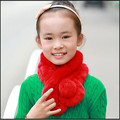 2016 Fashion Children Rabbit Fur Hat Scarf Girls Winter Warm Shawl Baby Lvey Knit Fur Scarf Baby Warm Multiple Colour Fur Scarf