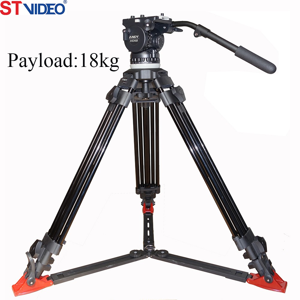 Professional camera tripod payload 18kgs with remote head