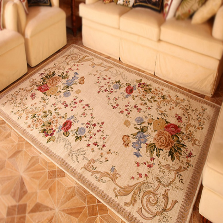 Traditional Rug Mat Brown Beige Vintage Large Small Living Room Hallway