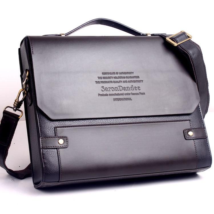 Men's PU leather laptop bag mens briefcases high quality lawyer handbag tote business bag men bag square pu tote bag
