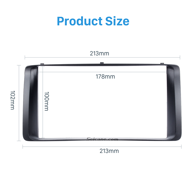 Image 2 - Seicane 178*100mm Double 2Din Car Autoradio Frame for 2003 2006 Toyota Corolla Stereo DVD Player Install Surround Trim Panel Kit-in Fascias from Automobiles & Motorcycles