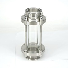 """抗腐食安定した視度研磨多目的サイトグラスフロー衛生継手ステンレス鋼 1.5 """"トライクランプ"""