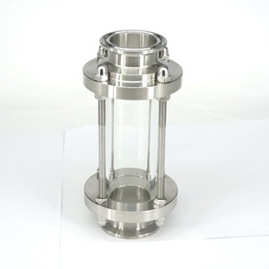 """Image 1 - Anti corrosão diopter estável polimento multiuso vista fluxo de vidro encaixe sanitário de aço inoxidável 1.5 """"tri braçadeira"""