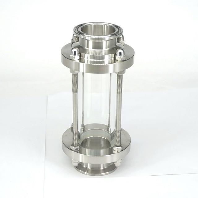 """ป้องกันการกัดกร่อนที่มีเสถียรภาพ Diopter ขัดอเนกประสงค์ Sight Glass กระแสเงินสดสุขาภิบาลสแตนเลส 1.5 """"Tri CLAMP"""