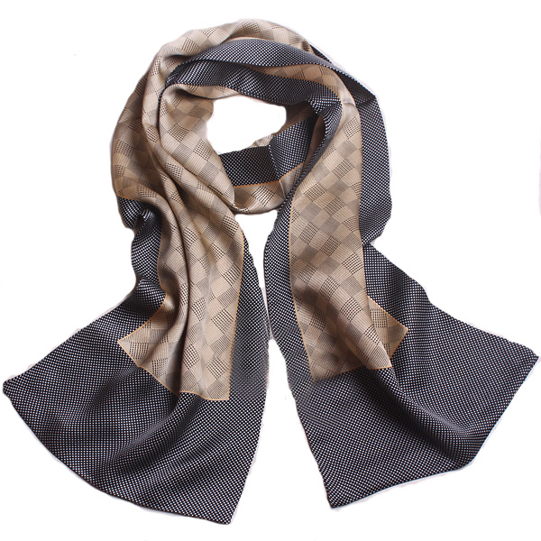 434a5085b 2016 New Muslim Hijab Shawl 100% Pure Silk Gray Plaid Scarves for men Two  Side Patchwork Black Wrap High End Natural Silk Scarfs-in Scarves from  Men s ...