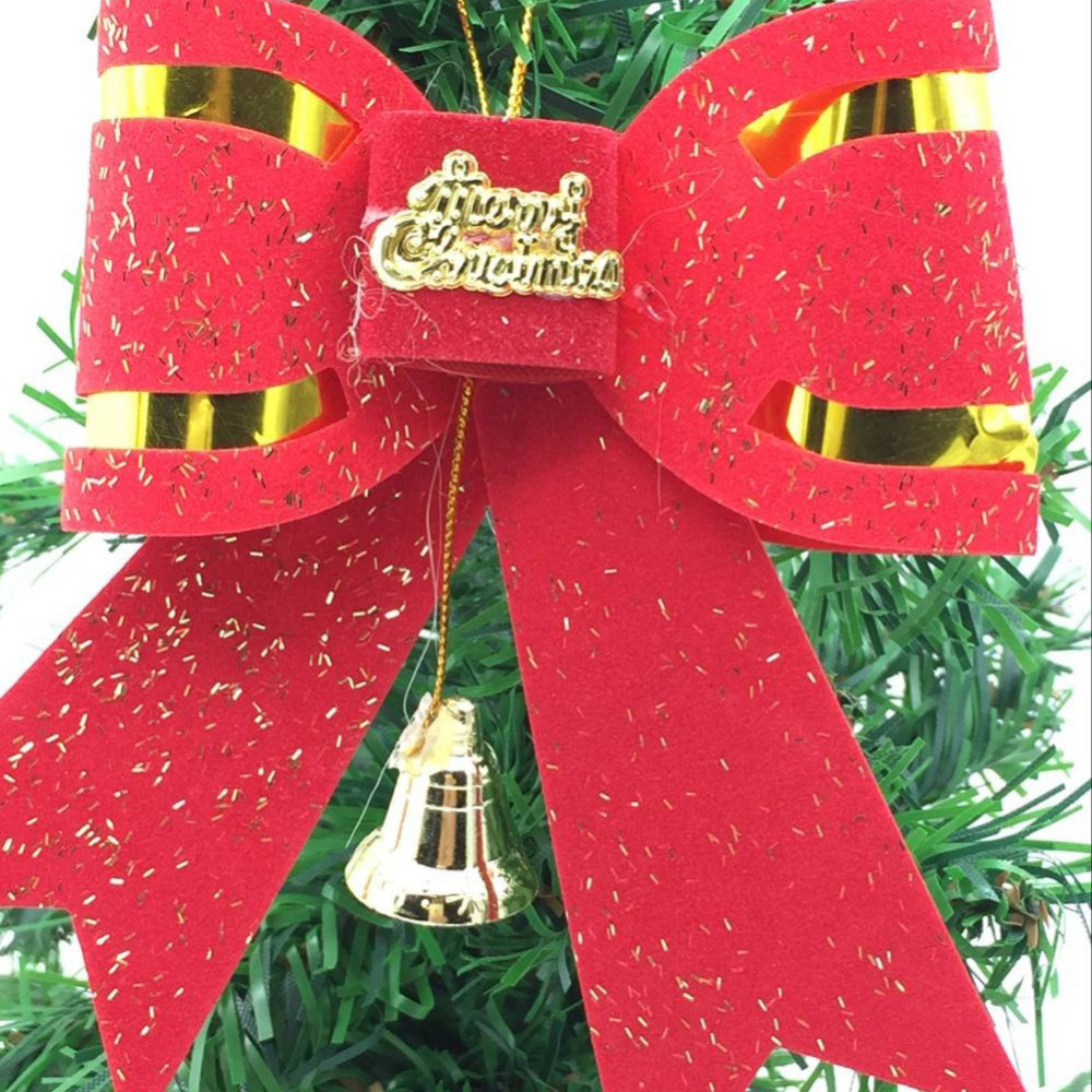 10 pcslot wholesale christmas big bow tie type xmas decorations size119 cm cute bowknot christmas tree ornament drop shipping in christmas bows from home - Wholesale Christmas Decorations