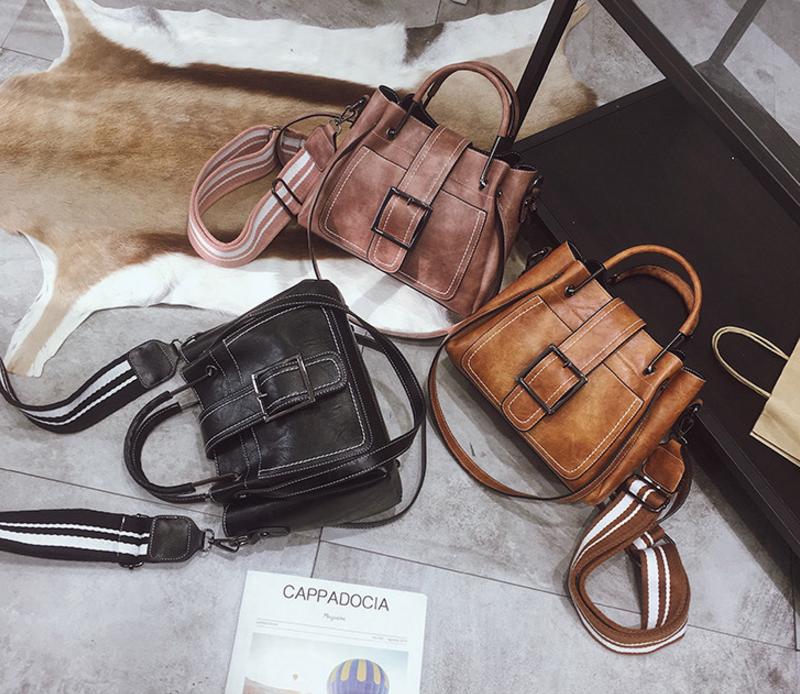 New European and American style vintage PU women handbag shoulder bag messenger bag 95