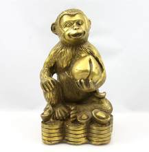 SUIRONG---2017 1007+++Pure copper Feng Shui monkey handicraft factory, metal, bronze craft(China)