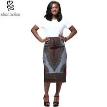 купить African skirt For Women Print High Waist Skirt Dashiki Pencil skirt Vintage по цене 1940.91 рублей