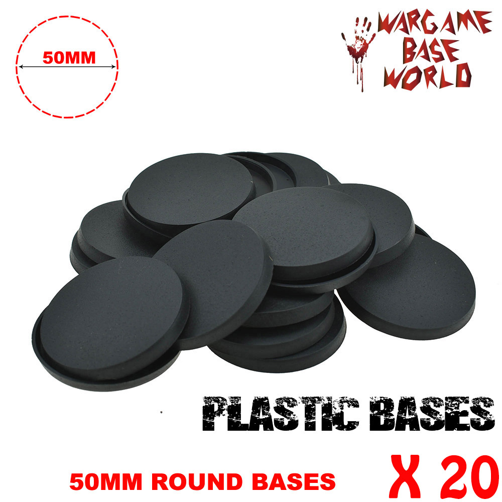 Gaming Miniatures And Wargame Bases 20 X 50mm Bases