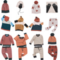 Pré-encomenda 8 pçs/lote roupa dos miúdos Do Bebê Do algodão calças camisola de malha xadrez cruz tampas meninos scarve outono casaco 0820 sylvia 537094228413