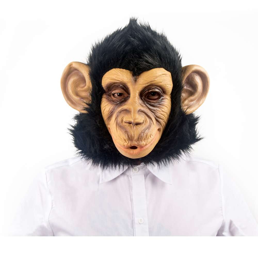 MANLUYUNXIAO Chimpanzee Mask Full Face Halloween Mask Latex Hood ...