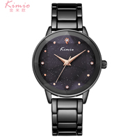 KIMIO Quartz Diamond Wrist Watch Alloy Rose Gold Women Bracelet Watch Women Dress Woman Watches Luxury Brand Ladies Watch K6299