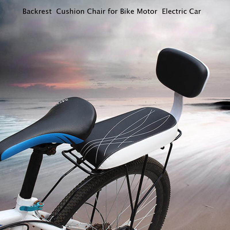 Electric Car Saddle Bicycle Chair Rack for Children Seat Travel MTB Electric Motor Car Cushion Chair + Pedal Soft Watterproof
