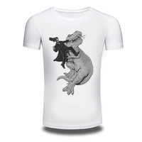 DY 102 Fashion Cartoon Dinosaur Design T Shirt Men S Personality Printing White Tops Hipster Lovers