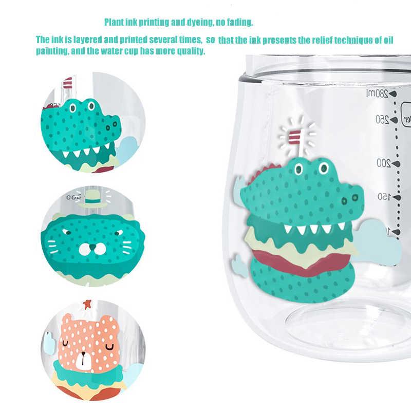 Детская кружка с ремнем 1-3 лет Детская обучающая чашка для питья ребенка 6-12 месяцев герметичная Drop-proof портативная чашка для питьевой воды