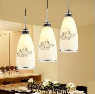 Restaurant Pendant Lights 3 heads modern garden creative led bar dining room personalized glass meal lamp TA10118 rectangular dining room pendant lights european style led crystal pendant lights modern restaurant lamp bar cafe creative lamps