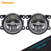 Buildreamen2 For 2006 2014 Suzuki SX4 (EY, GY) Car Styling LED Fog Light DRL Daytime Running Light 12V High Bright 2 Pieces