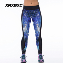 060 High Waist Workout Silm Fitness Women Leggings Elastic Pants Trousers For Sexy Girl Fashion Galaxy