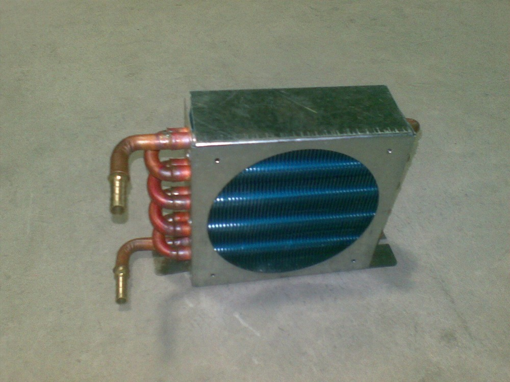 Water cooled row condenser evaporator heat exchanger radiator with 1 4 thread or pagoda joints pitch