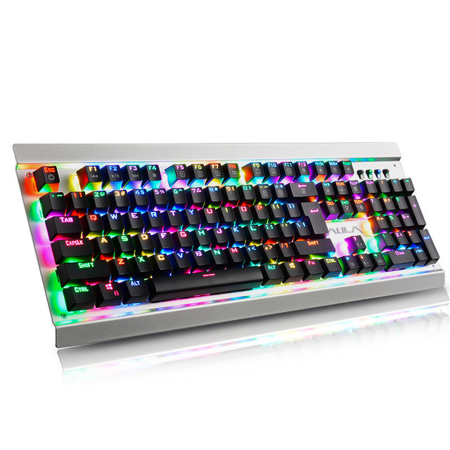 GK104 Mechanical Gaming Wired Keyboard RGB Custom 16.8 Million Color 87/104 Anti-ghosting Russian/English Backlight Desktop 5