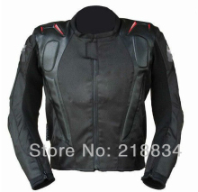 Free shipping Motorcycle jacket racing jacket motorcycle racing suits send 5pcs set protective gear