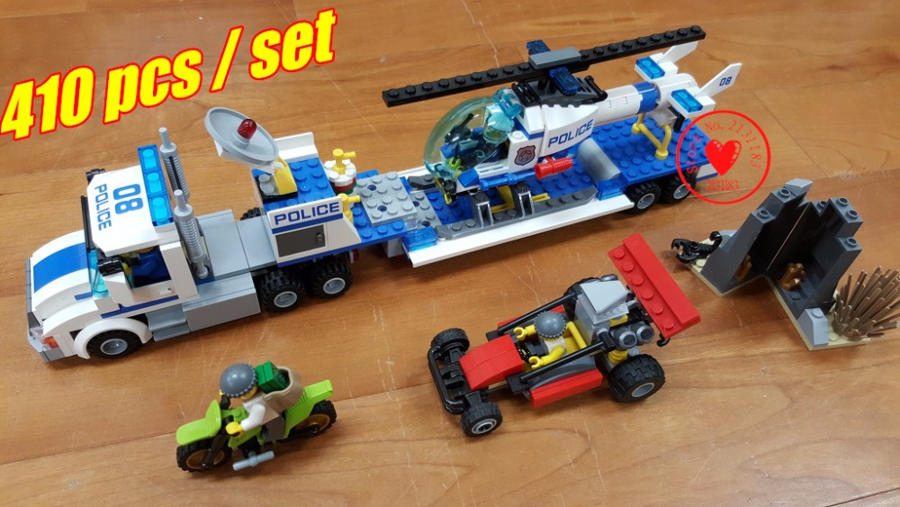 Urban City Police Force Helicopter Truck Model Building Blocks Toy Children Gifts compatiable with lego city police kid gift set lepin 02012 city deepwater exploration vessel 60095 building blocks policeman toys children compatible with lego gift kid sets
