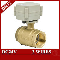 Quality DN32 Motorised Ball Valve 1 1 4 NPT BSP Screwing 2 Wires DC12 24V For