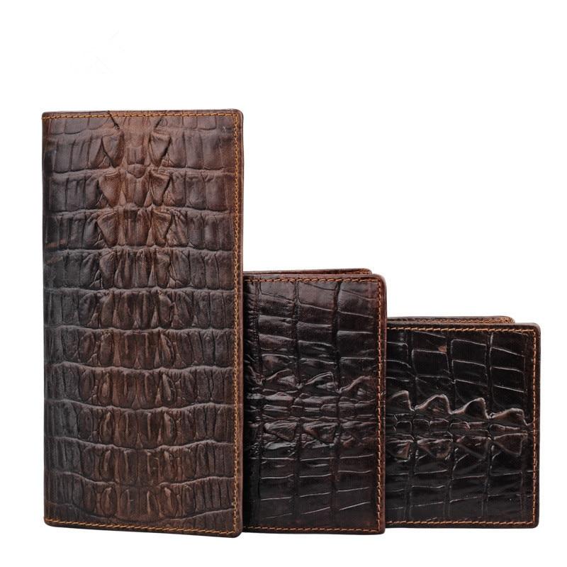 WESTCREEK Unique Design Crocodile Pattern Äkta Läder Män Lång - Plånböcker - Foto 6