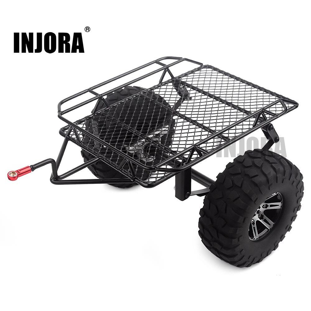 INJORA Metal Single Axle Trailer Kit For 1/10 Scale Crawler Traxxas TRX4 Axial SCX10 90046 D90 Tamiya CC01