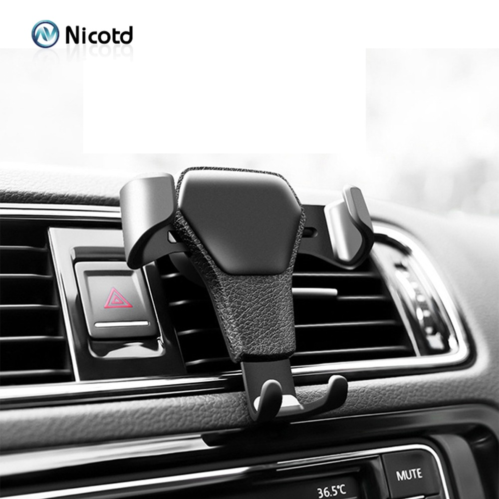 Nicotd Universal Car Cell Phone Holder For Phone In Car Air Vent Mount Stand Mobile Phone Holder Gravity Smartphone Cell Support