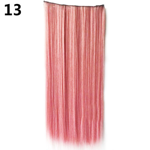 Clip In Colorful Hairpiece Synthetic Straight Hair Cosplay Ponytail Extensions
