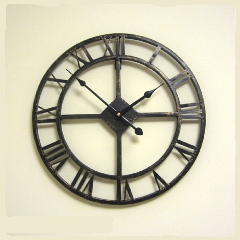 3d Retro Decorative Art Big Roman Style Vintage Large Wall Clock On