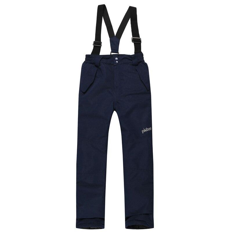Marque Nouvelle Épaissie Filles Ski Pantalon Sports de Plein Air Bretelles Pantalon Femmes Coupe-Vent Imperméable Hiver Chaud Pantalons De Neige