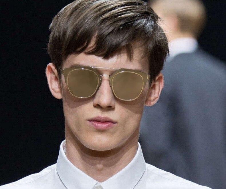 1f2a5da288 VictoryLip Classic Hot Fashion Flat lens Sunglasses Women Or Men Brand  Designer Cool Men Lady celebrity Sun Glasses Female -in Sunglasses from  Apparel ...