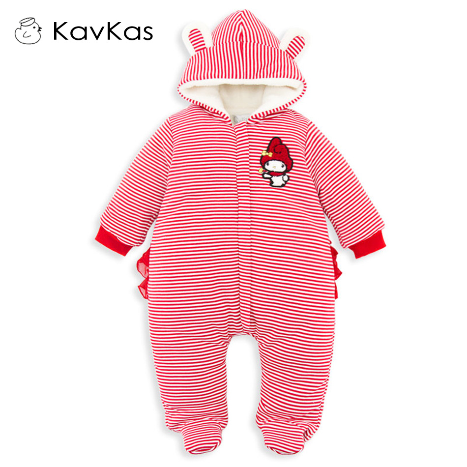 Baby Rompers Boys Girls Clothing Quilted Long Sleeve Jumpsuits Newborn Clothes  Children Cotton Costume Winter 0-1Y baby boys rompers infant jumpsuits mickey baby clothes summer short sleeve cotton kids overalls newborn baby girls clothing