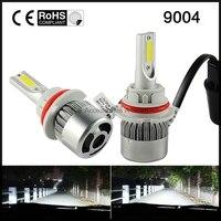 1pair 9004 72W 7600LM Car LED Headlight Hi Lo Kit Fog Light 6000K 3000K