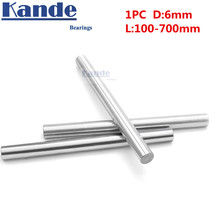 Kande Bearings 1pc d: 6mm 100-600mm  chrome plate3D printer rod shaft 6mm  linear shaft chrome plated rod shaft CNC parts цена в Москве и Питере