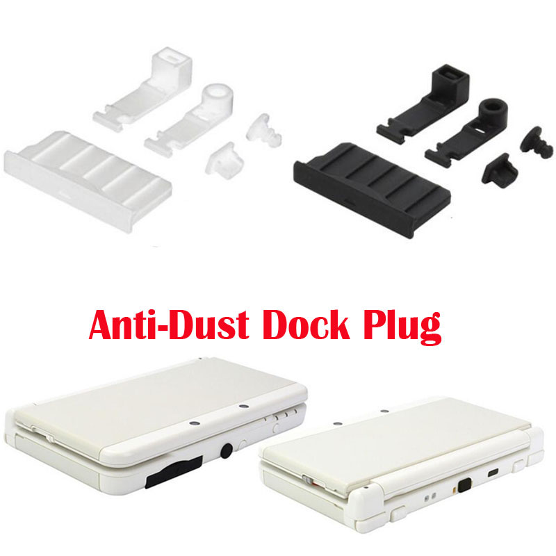 Silicone Anti-Dust Plug Earphone Jack Charging Dock Dust Proof Protector Cap For Nintendo New 3DS XL/LL 3DSXL 3DSLL 2DS Cover