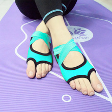 JINBEILEE Bandage professional yoga shoes bottomless air non-slip fitness fingerless refers to five-finger adult socks