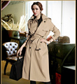 Woman's Trenches Coat Autumn Spring Female Overcoat With Belt Long Design outwear Tops Jacket