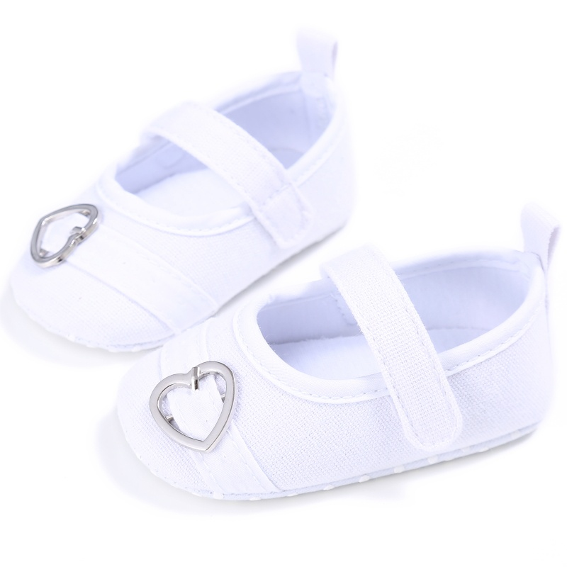 Infant Toddler Baby Girls Soft Sole Crib Shoes Prewalker Canvas Sneakers Cute love princess baby step shoes 0-18M