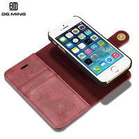 Luxury Leather Case For IPhone 5 5S SE Cover Genuine Flip Wallet Leather Fundas Capinha Coque