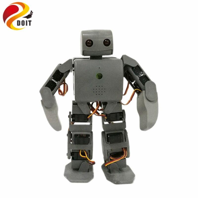 DOIT 1 set Plen 2 Robot humanoïde avec carte de commande + Servos + chargeur pour bricolage projet Arduino
