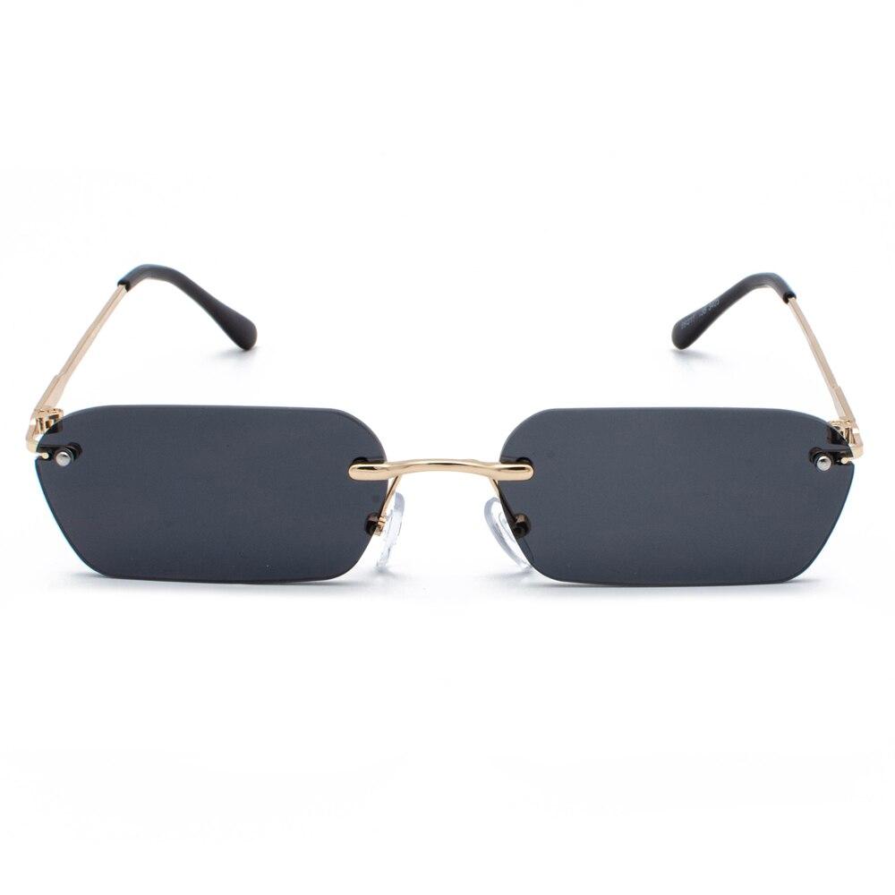 Peekaboo rimless rectangle sunglasses women clear color 2019 summer accessories square sun glasses for men small size uv400 2