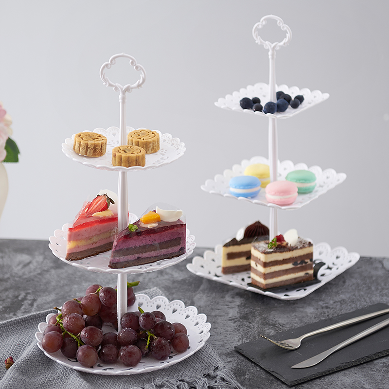Two/three Tier Cake Cupcake Stands Wedding Birthday Party Dessert Display Tray Baking Coffee Shop Cake Plates Fruit Candy Tray