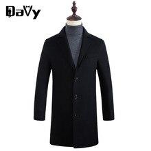 Индивидуальные Траншеи пальто мужчины новый Европейский зима мужские шерстяные пальто воротник дизайн длинный хаки пиджаки пальто манто homme