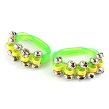 5 PCS of (Lot of 2 tambourine Bell Jingle Bell green Percussion Music for child)(China)